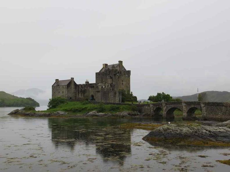 A picturesque Eilean Donan Castle on a lake