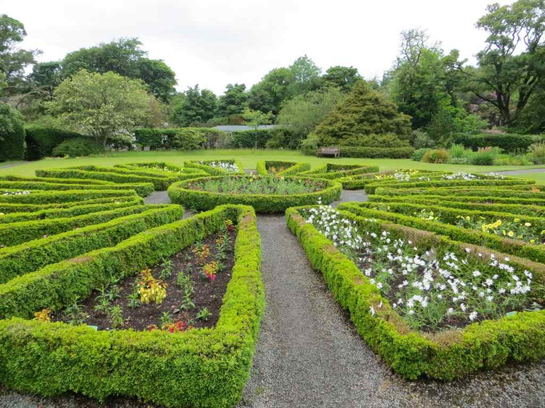 Manicured gardrens in the Dunvegan Castle grounds