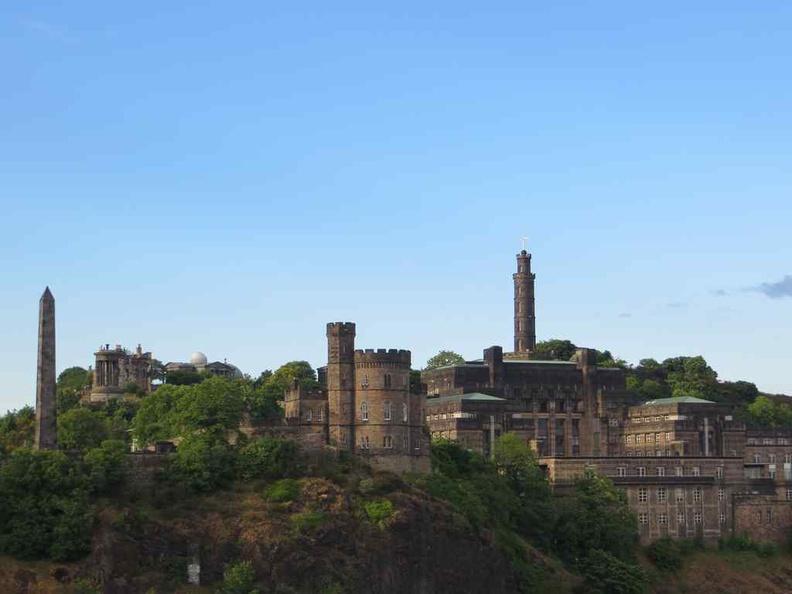 Edinburgh castle sitting on a high ground in the city