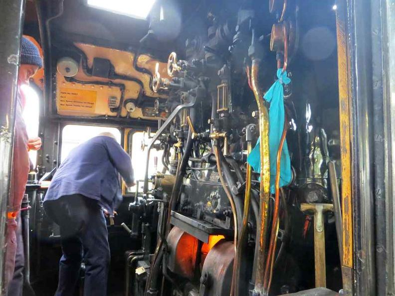 Scotland Jacobite train Engine room