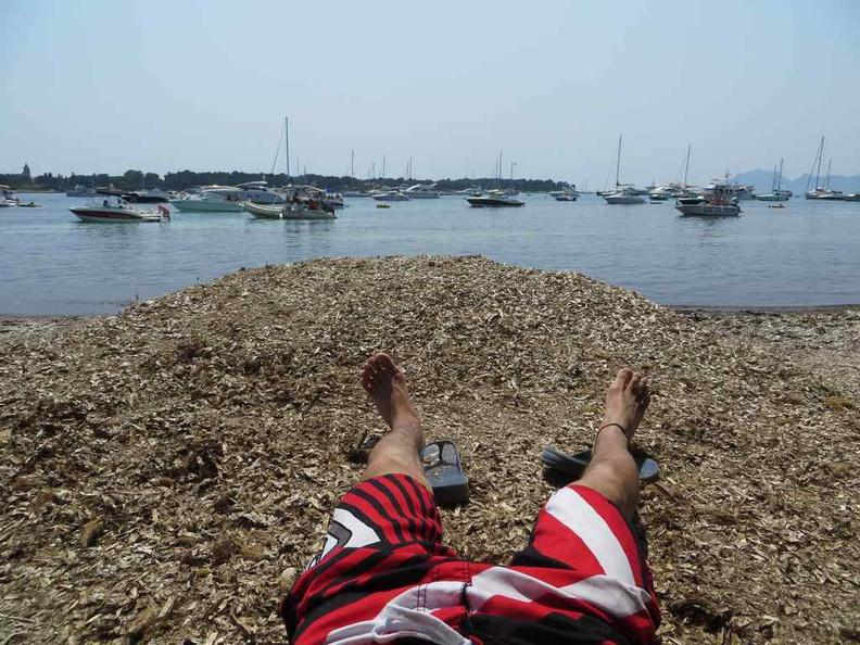Lazying on the island beach