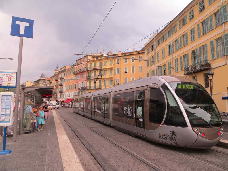 Nice city is well connected by public transport trams