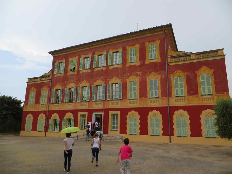 Musée Matisse, with its iconic red frontage