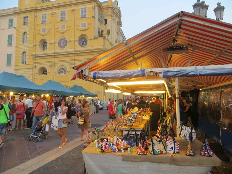 Market squares and shopping streets in Nice France