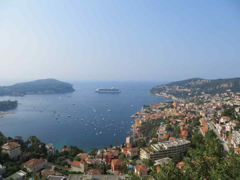 View of the Mediterranean and French Riviera