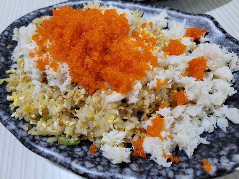 Crab meat fried rice is the most premium offering at $11 a plate, but offers one of the best value offerings for the portions and crab meat portions