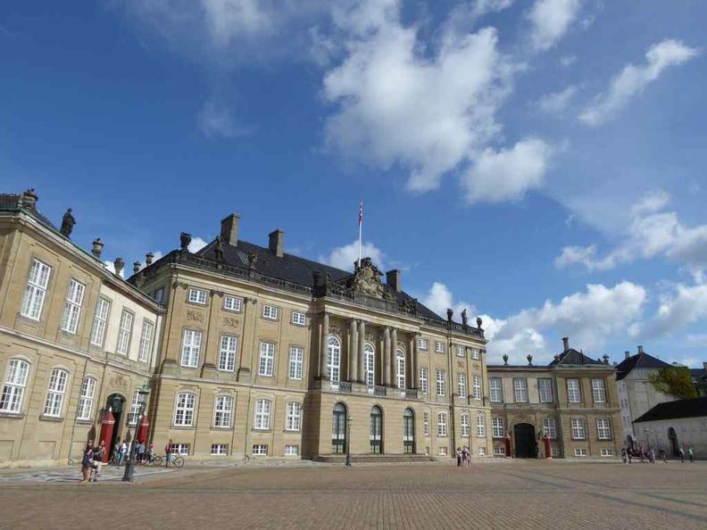 Copenhagen Denmark Amalienborg Palace main palace square