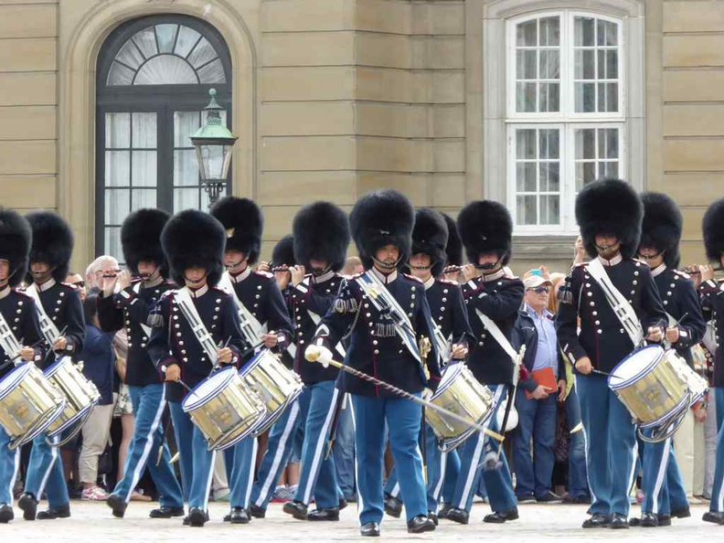 Copenhagen Denmark Palace Change of guards at noon on summer months
