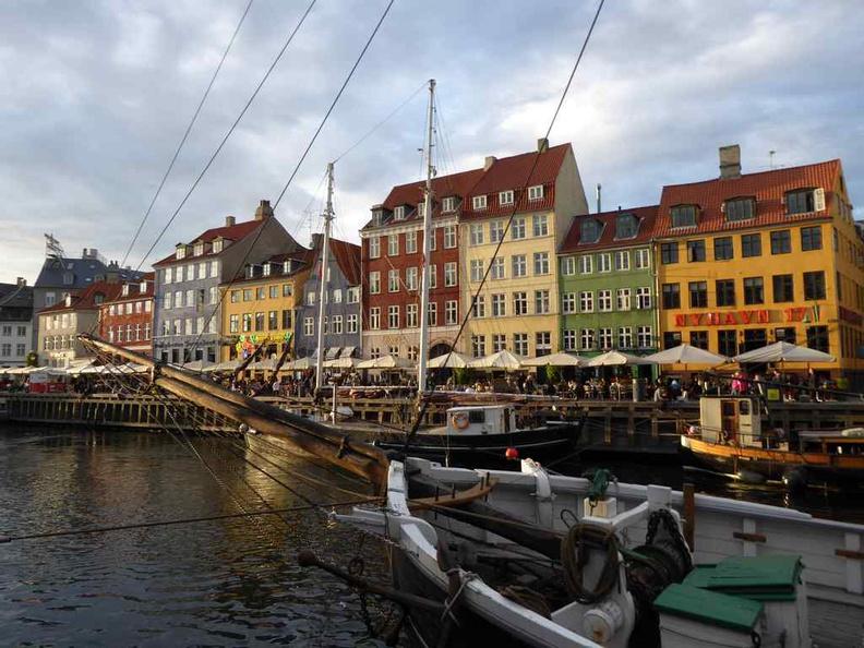 Nyahn harbour at Copenhagen Denmark city