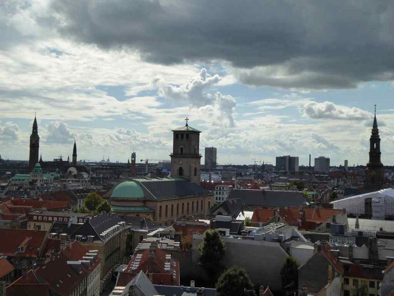 View from top of the Copenhagen Denmark Round church