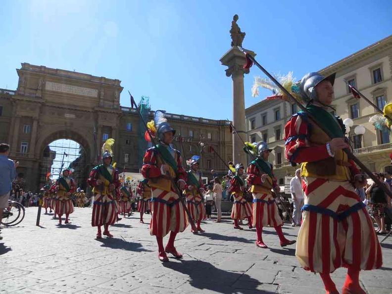 Florence Italy Piazza della Signoria change of guards