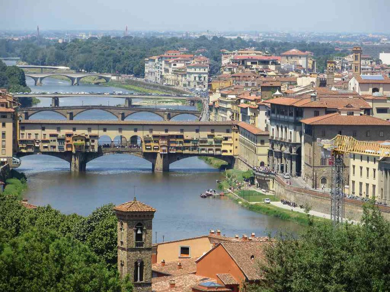View of Florence Italy Ponte Vecchio from Piazzale Michelangelo