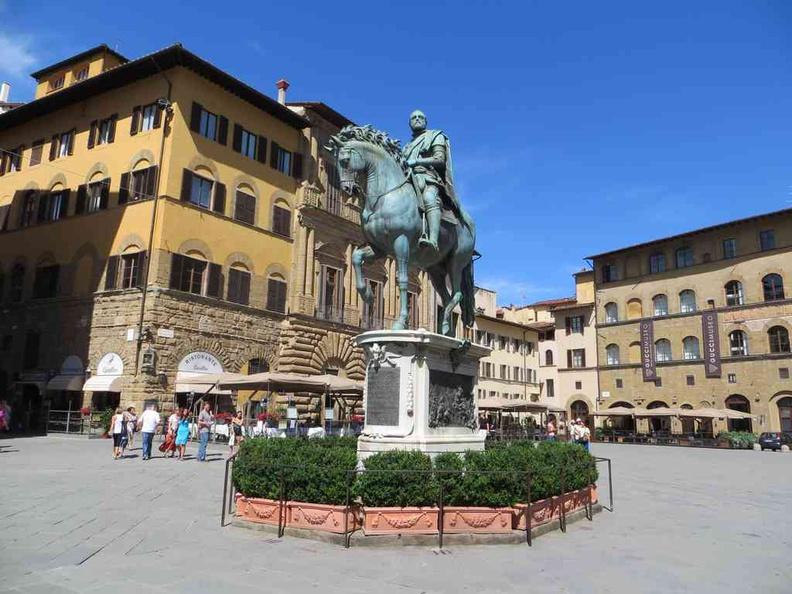 Florence Italy Equestrian statue of Cosimo at Piazza della Signoria