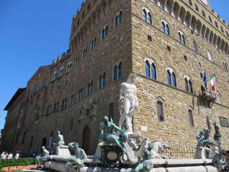 Florence Italy Palazzo Vecchio Sculpture square at Piazza della Signoria