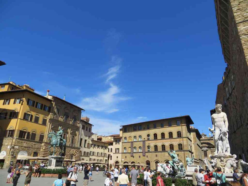 Florence Italy central square, buzzing with arts and culture