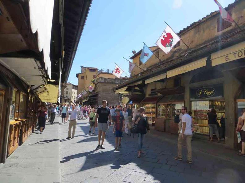 Stores on bridge