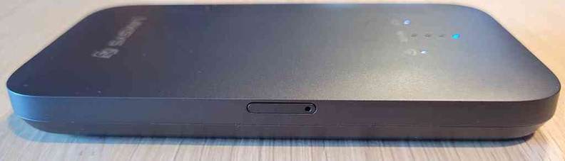 Right side of the with a nano-SIM slot tray