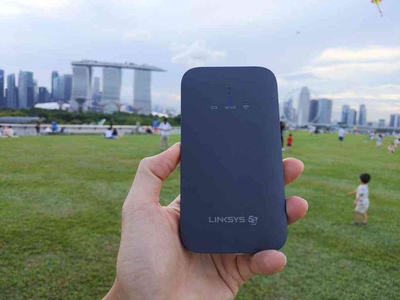 Getting a good reception is at best spotty so far in Singapore