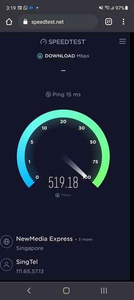 Impressive 518Mbps speeds