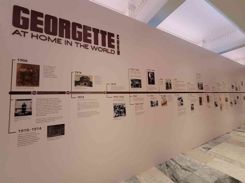 You can find a timeline of Chen's life on the city hall foyer connecting two galleries