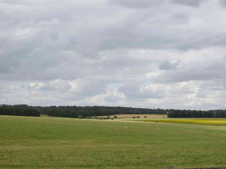 Stonehenge Fields of Salisbury Plain in Wiltshire, England
