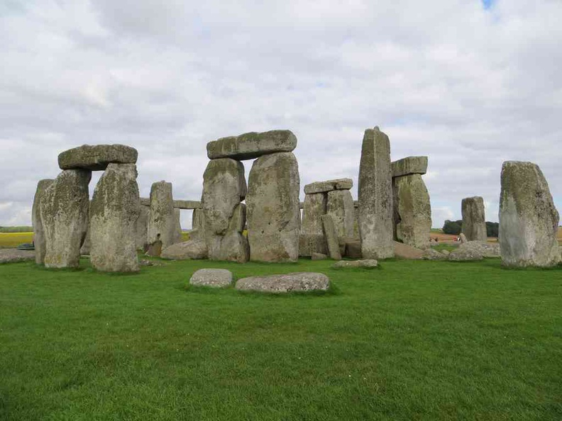 The stones formation up close