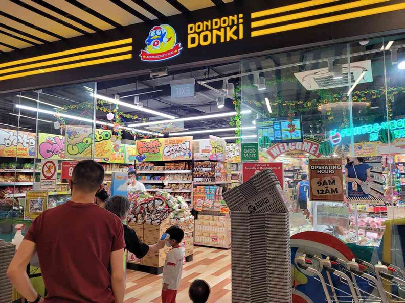 Entrance of the new Don Don Donki Pasir Ris at downtown east