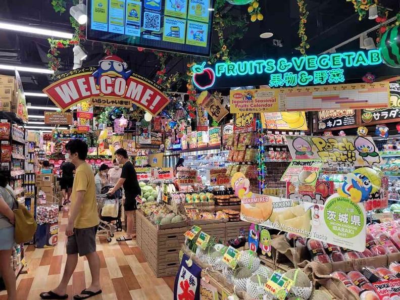 Don Don Donki Pasir Ris Supermarket section at the market entrance