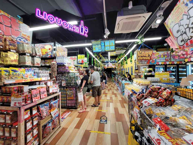 Don Don Donki Pasir Ris General store ambience and layout