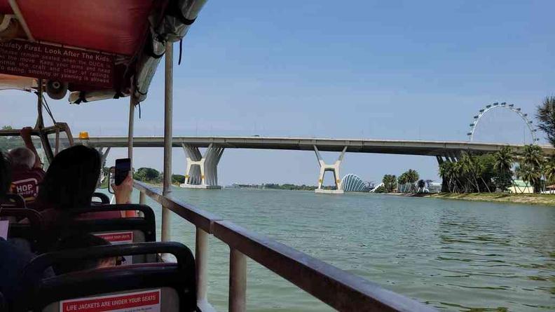 Duck Tours Cruising along the Marina Bay reservoir