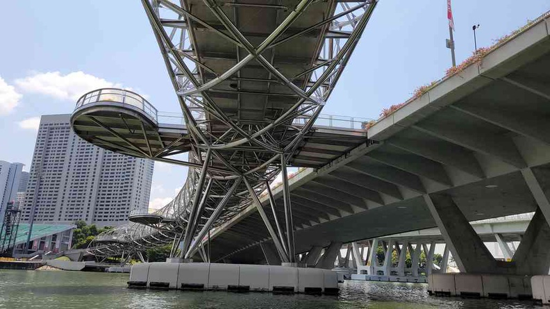 Not everyday you get a view under the Helix bridge