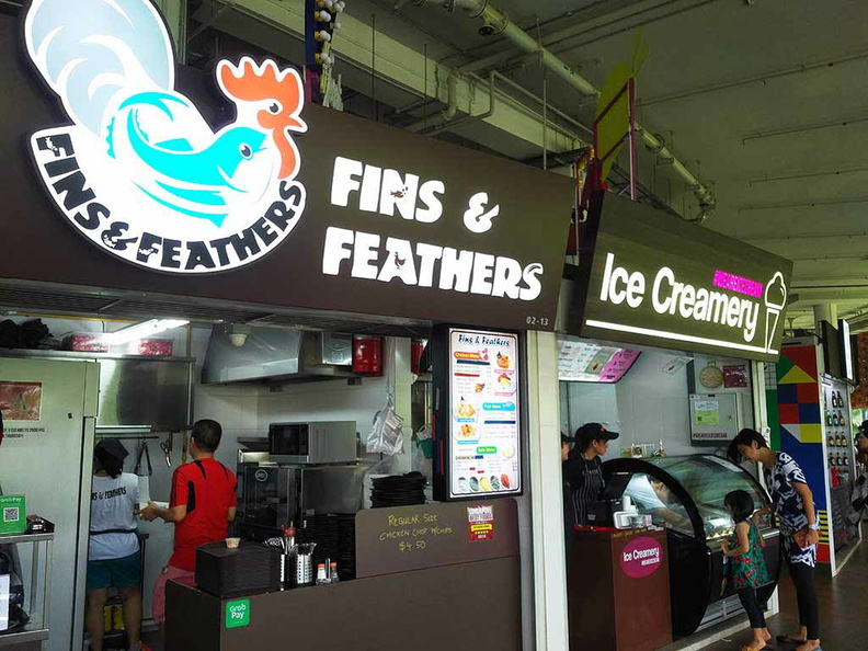 Atas western foods and premium ice cream selections
