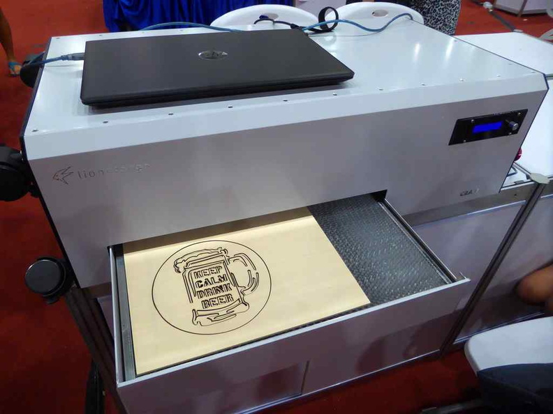 Lionsforge Craftlaser, affordable carbon dioxide laser cutter machines on display