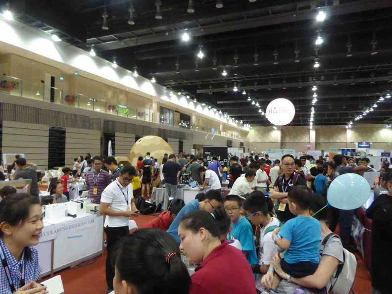 Overview booths in the multi-purpose hall
