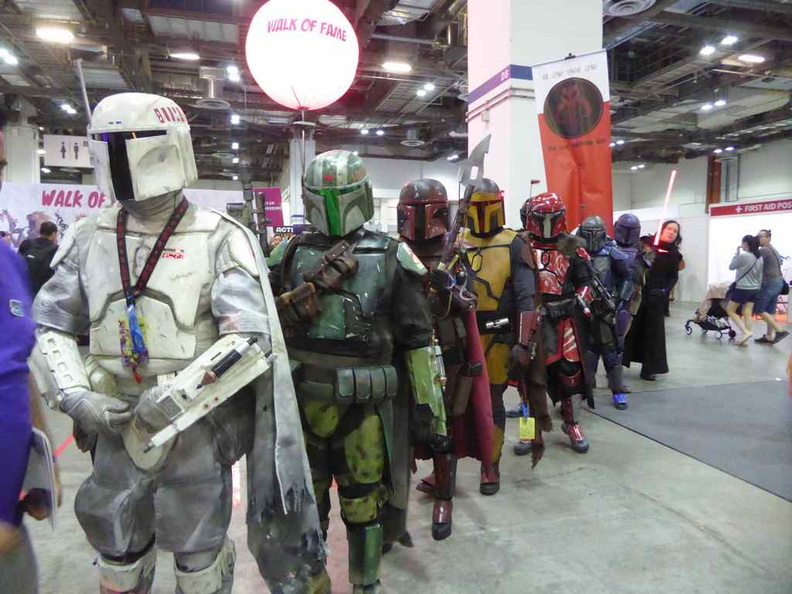 Mandalorian Mercs costume club on show floor parade