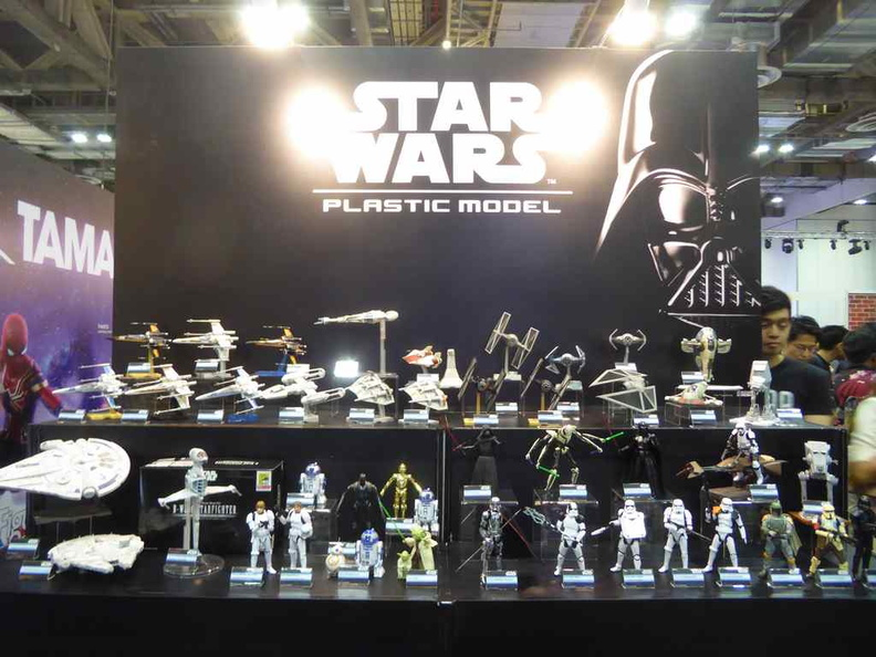 Bandai Booth with Starwars plastics range