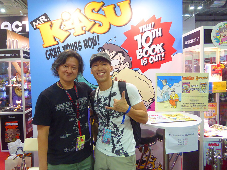 It was an honor meeting my childhood cartoon hero creator, Johnny Lau, the creator of Mr Kiasu