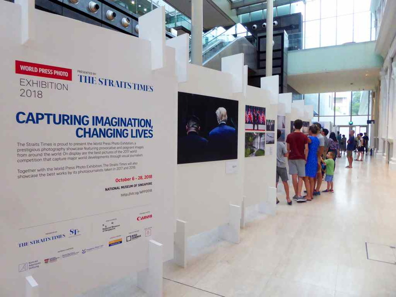 Welcome to the World Press Photo Exhibition 2018 at the open atrium of the National Museum of Singapore