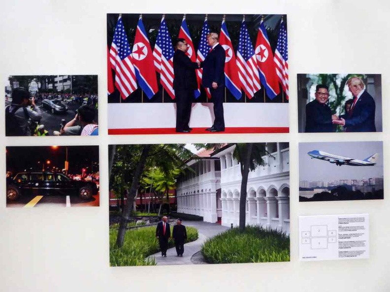 Straits Times Photos Exhibition covering the Trump-Kim summit in Singapore last June with the 2 leaders at Capella Sentosa
