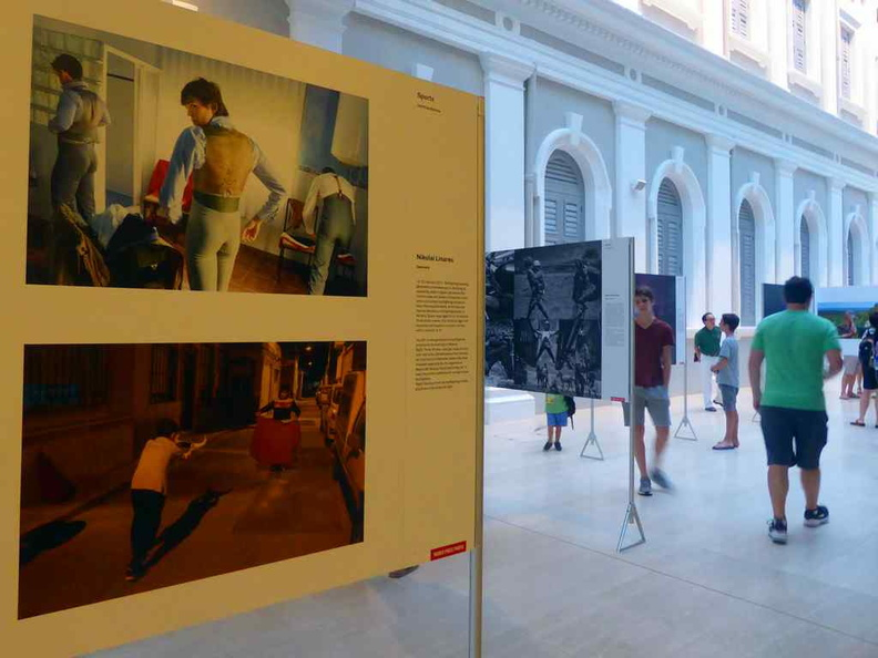 The World Press Photo Section on the lower ground floor, covering a story on bull fighting in Spain
