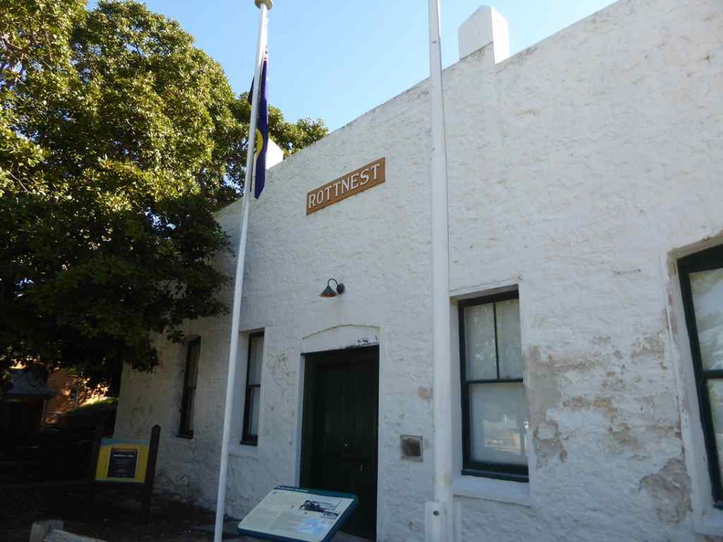 The inconspicuous Rottnest museum just off the settlement area