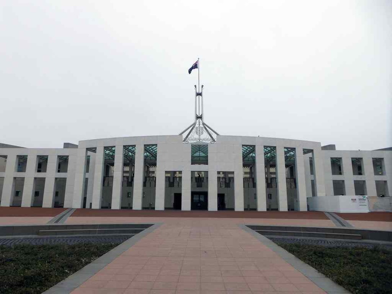 The front entrance of the new Parliament House