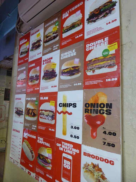 Menu offerings, the selection is simple, so you can get started with eating the soonest possible