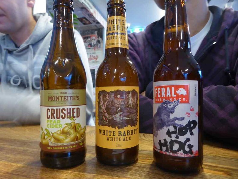Some of the craft beer on offer