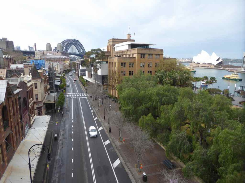 View of the Rock with Sydney harbour bridge in the background