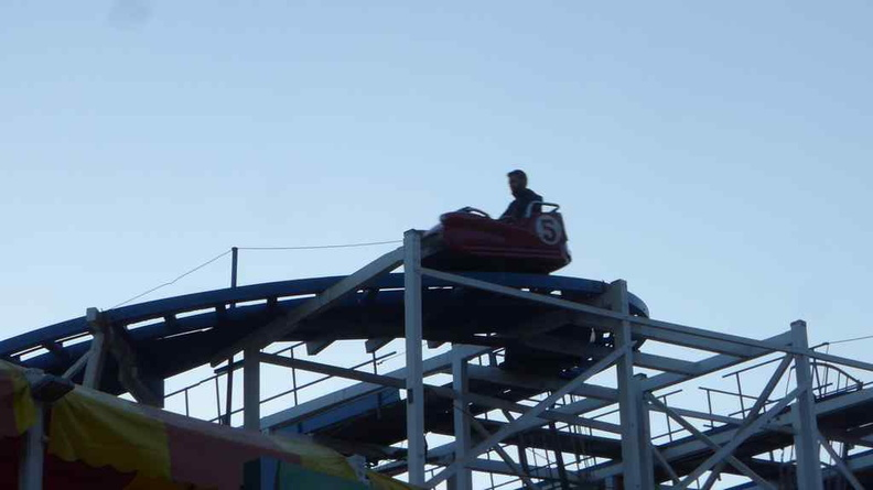 The wild mouse roller coaster. The last of the remaining such rides in the park