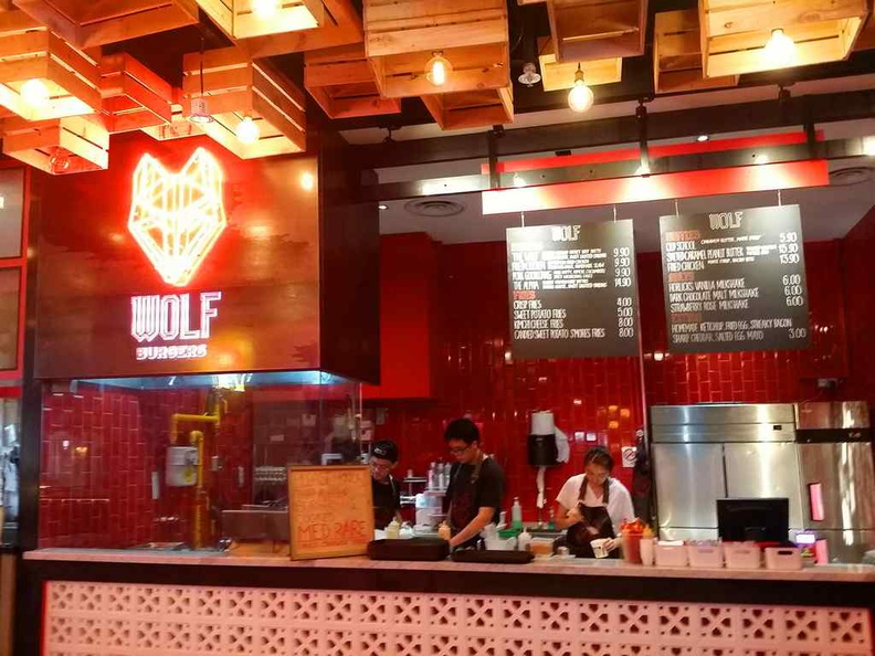 The Wolf burger first outlet at Suntec city inside the Pasarbella food court