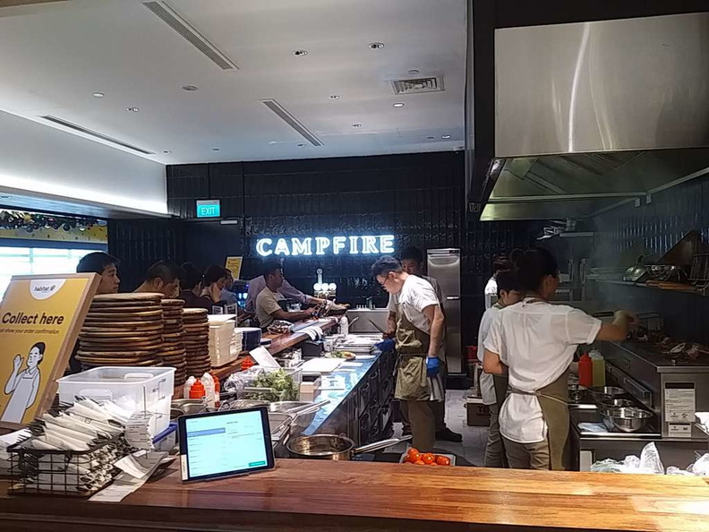 The Campfire is one of the western grill restaurants you can pay to cook the food right from the supermarket