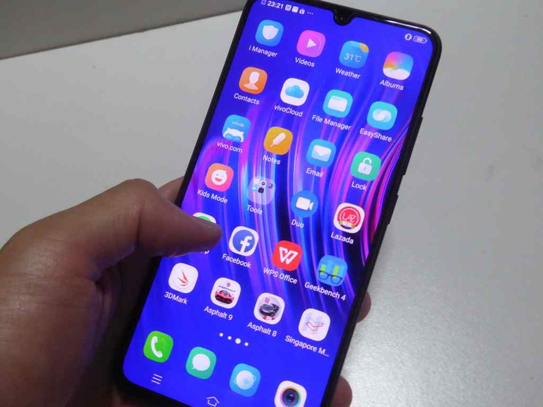 The phone feels solid and balanced in-hand. It feels like a finished product, which is a big plus for the price point. The plastic finish don't make the phone feel cheap either