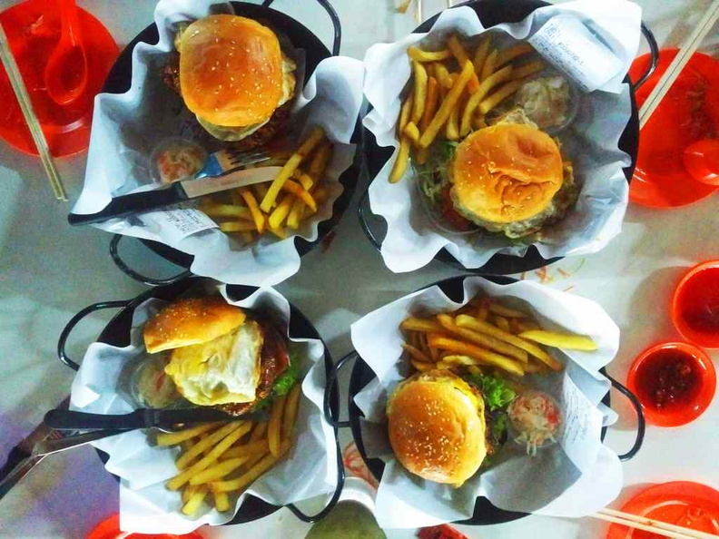 Yep, you got that right, they do have Wok in Burgers. Meet the wok burger gang!